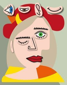 free printable: make your own Picasso art - Woman