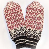 zlaika: (via Ravelry: Jorid's Christmas Heart pattern by Jorid Linvik) Mittens Pattern, Knit Mittens, Knitted Gloves, Knitting Socks, Knitting Wool, Knitting Charts, Knitting Patterns Free, Free Knitting, Drops Baby Alpaca Silk