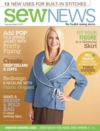 Issue: February/March 2013  What a beautiful job of sewing this most unflattering jacket! If your desire is to add 10 years and 20 pounds, then this is the project for you!