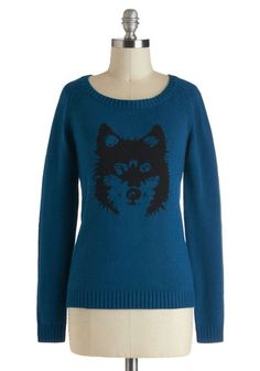 I actually got a cuter, much cheaper wolf sweater from forever 21, but this one's nice, too... #modcloth