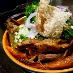Carnitas with Chile Verde and roasted vegetables  #mexicancuisine