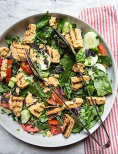 grilled cornbread panzanella — whats cooking good looking