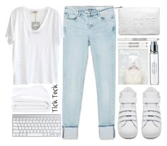 """""""white..."""" by smile4me543 ❤ liked on Polyvore featuring Miss Selfridge, Zara, adidas, American Vintage, Frette, Byredo and Lord & Berry"""
