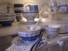 GreenGate Audrey & Spot Indigo: i wish Greengate was made in Europe instead of china!