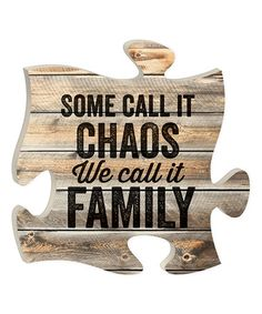 Look at this #zulilyfind! 'We Call It Family' Puzzle Wall Sign #zulilyfinds