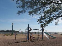 Helsingin uimarannat: Lauttasaaren uimaranta | Tony Hagerlund // Nice beach for families in Lauttasaari, Helsinki. Nice Beach, Helsinki, Finland, Wind Turbine, Families, Summer, Kids, Travel, Children