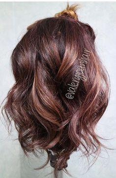 hair rose gold chocolate