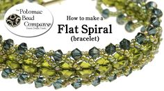 This video tutorial from The Potomac Bead Company shows you how to make a flat spiral stitch bracelet. This is an incredible versatile stitch that allows you...