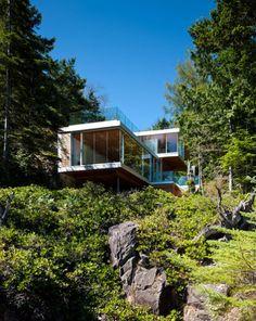 casas diseñadas en pendiente - Buscar con Google