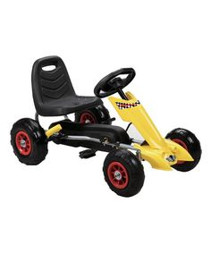 Take a look at this Yellow Zoom Pedal Go-Kart Ride-On on zulily today!