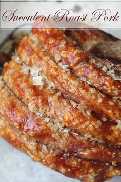 Succulent Rack of Pork with Roasted Fennel, Apples & Potatoes and a crackling to die for