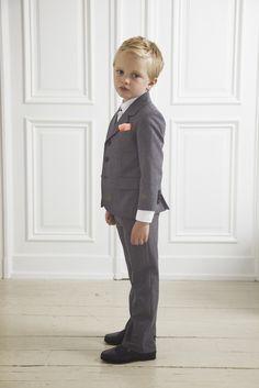 grey suit boys wedding attire by marie chantal