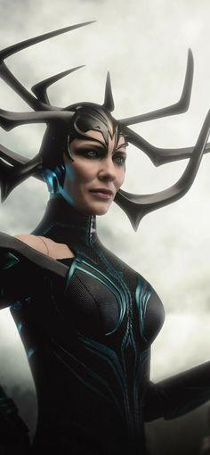 Thor Ragnarok Concept Art, Thor Ragnarok Hela, Hela Thor, Thor Y Loki, Female Villains, Marvel Villains, Marvel Characters, Avengers Girl, Avengers Poster