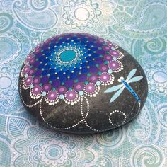 Mandala Stone Large Reserved for Kelly by KimberlyVallee on Etsy