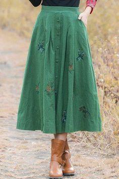 vintage green skirt