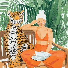 pencil drawings - Jungle Vacay II Canvas Art by 83 Oranges iCanvas Canvas Artwork, Canvas Prints, Art Prints, Inspiration Art, Art Inspo, Arte Indie, Orange Art, Art Et Illustration, Art Graphique