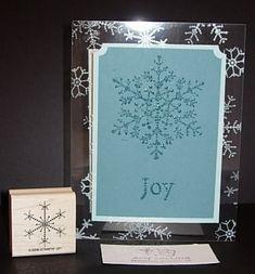Snowflake acetate card