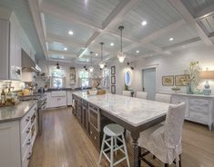 Love how big and beautiful this kitchen is. Lots of room to cook, bake, and entertain.  House of Turquoise: Beautiful Cape Cod Home