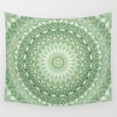 Spring Mandala in Green, Yellow, and White by Kelly Dietrich