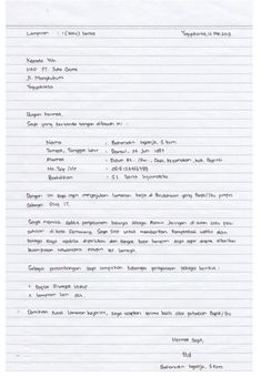59 Contoh Surat Lamaran Kerja Sopir Tulis Tangan