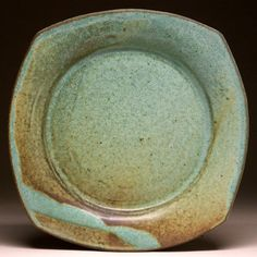 Green Matte Plates Handcrafted by Mangum Pottery