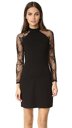 BB Dakota Womens Petite Wells Ponte Lace Detailed Dress Black Small * Read more  at the image link. (This is an Amazon affiliate link and I receive a commission for the sales and I receive a commission for the sales) #FashionDresses