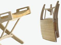 Wooden armchair PP512 THE FOLDING CHAIR by PP Møbler   design Hans J. Wegner