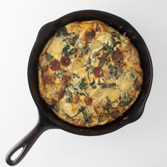 Chorizo and Chard Frittata--putting our new pan to use, once more!