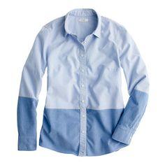 Boy shirt in colorblock oxford, jcrew - $29.99