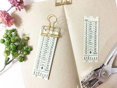 【新作】万年タイプの日付シート/チケットデザイン【手帳コラージュ】