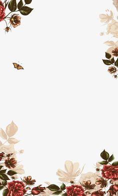 Hand-painted flowers border, background, flowers, hand-painted PNG and PSD Cute Wallpaper Backgrounds, Flower Backgrounds, Cute Wallpapers, Iphone Wallpaper, Wedding Invitation Card Design, Wedding Invitations, Floral Invitation, Invitation Ideas, Mises En Page Design Graphique