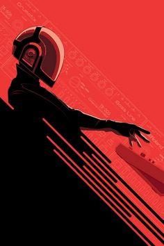 Radical DAFT PUNK Inspired Art for ReDiscovery ArtShow - News - GeekTyrant