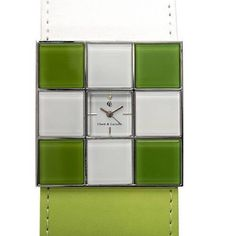 CHETE & LAROCHE WOMEN'S WATCH MODEL: JBA100645-G/ 0500, QUARTZ MOVEMENT  WATCH CASE: SILVERTONE METAL, WHITE & GREEN PLASTIC ,  TOTAL LENGTH - 4.6 cm , HEIGHT- 5 mm , WIDTH - 4.6 cm  GREEN LEATHER STRAP, MAX LENGTH- 9 INCHES, MIN- 7 INCHES ( 17.5- 22.5 cm )  IT HAS NEVER BEEN USED BUT IT HAS BEEN IN MY DRAWER FOR SOME TOME AND NEEDS NEW BATTERY BATTERY. Chete & Laroche Other