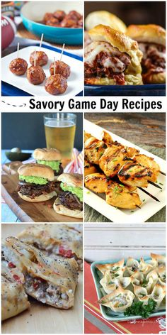 Savory Game Day Tailgating party Recipes