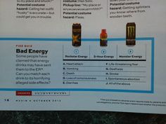 Like energy drinks? Look at their alleged side effects, yes, Red Bull is also a culprit. ER anyone?
