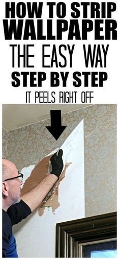 How To Strip Wallpaper The Easy Way . if you're searching on how to strip wallpaper, this is an easy step by step tutorial that shows you exactly what you need & how to do it . Stripped Wallpaper, Old Wallpaper, Removing Wallpaper, Kitchen Wallpaper Removal, Taking Off Wallpaper, Home Improvement Projects, Home Projects, Home Renovation, Home Remodeling