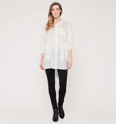 Lange blouse in wit