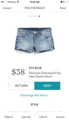 Cute distressed shorts for summer