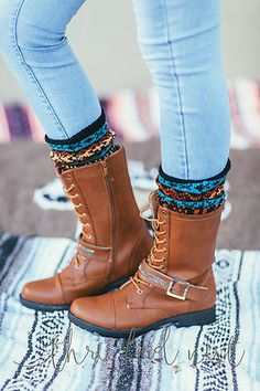 Aztec Knitted Boot Cuffs