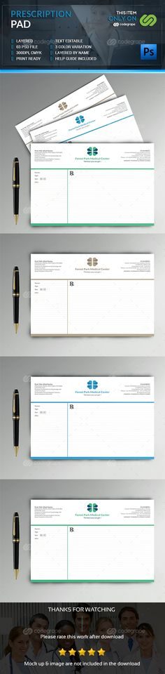 Prescription Pad Template  Print Templates Fonts And Font Logo