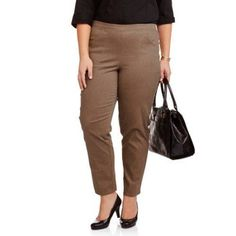Just My Size Women's Plus-Size 2-Pocket Stretch Pull-On Pants, Available in Regular and Petite Lengths, Size: 18W-20W, Multicolor