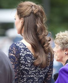 Kate Middleton Beautiful Half Updo Hairstyles 2015