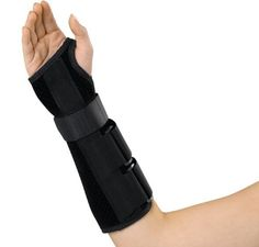 Medline Wrist and Forearm Splints, Right, X Large by Medline. $21.82. Lined,  faux suede material reduces migration. Circumferential wrist strap and two forearm straps for compression and support. Splint does not extend beyond the palmer crease allowing full finger range of motion. Slip on design for ease of application. Sewn in dorsal and palmer stays for immobilization.