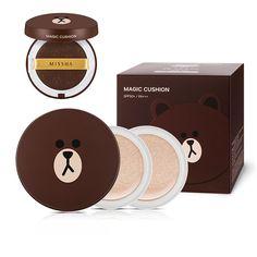 Missha Line Friend Brown Limited Edition M Magic Cushion + Refill Cushion 2 Set #Missha