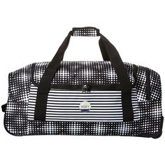 Roxy Distance Across 60l Wheeled Duffle Bag Black (84 AUD) ❤ liked on Polyvore featuring bags, luggage, accessories, black and women