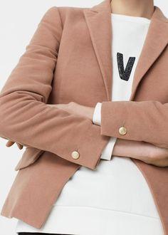 Structured cotton blazer | MANGO