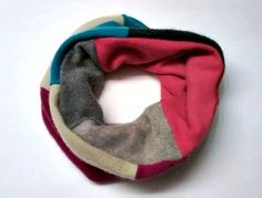 FREE U.S. SHIPPING Cozy Cashmere Cowl / Scarf ~ multi color ~ made from recycled cashmere sweaters ~ cashmere lined, reversible. - pinned by pin4etsy.com