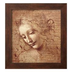 Female Head by Leonardo da Vinci Framed Wall Art.
