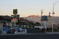 West Main Street, Barstow, California 2013. Route 66 Motel. Water Tower, Windmill. Barstow CA.