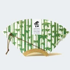 Fan Incense - Scent of Bamboo by the Premier Incense Masters Kousaido Mt Washi Tape, Japanese Design, Fresh Green, Lily Of The Valley, Incense, Garden Tools, Bamboo, Kyoto Japan, Fan